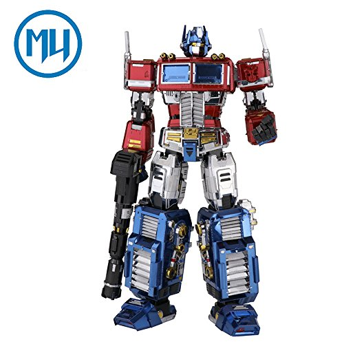 2017 MU 3D Metal Puzzle Transformers Optimus Prime G1 Model YM-L03G-C DIY 3D Laser Cut Assemble Jigsaw Toys For Audit