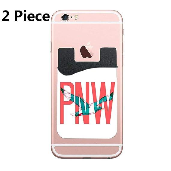 d0dd69aabca Amazon.com  PNW Coastal Seagull Cell Phone Stick On Wallet Card ...