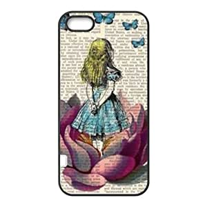Happy Lovely girl and butterfly Cell Phone Case for Iphone 5s