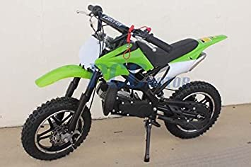 Black DB50X 48L KIDS 49CC 2 STROKE GAS MOTOR DIRT MINI POCKET BIKE