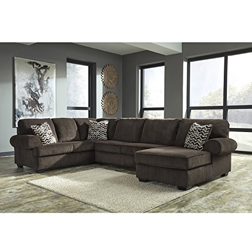 Piece Brown Corduroy 3 (Flash Furniture Signature Design by Ashley Jinllingsly 3-Piece LAF Sofa Sectional in Chocolate Corduroy)