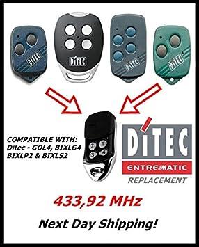 4/Kan/äle Ditec GOL4 Fernbedienung,/Frequenz 433/MHz