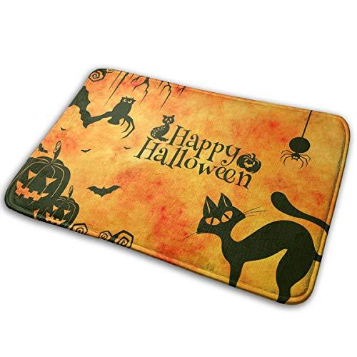 NGFF Gatto Halloween Bath Mat Non Slip Absorbent Super Cozy Velvet Bathroom Rug Carpet Bath Rugs -