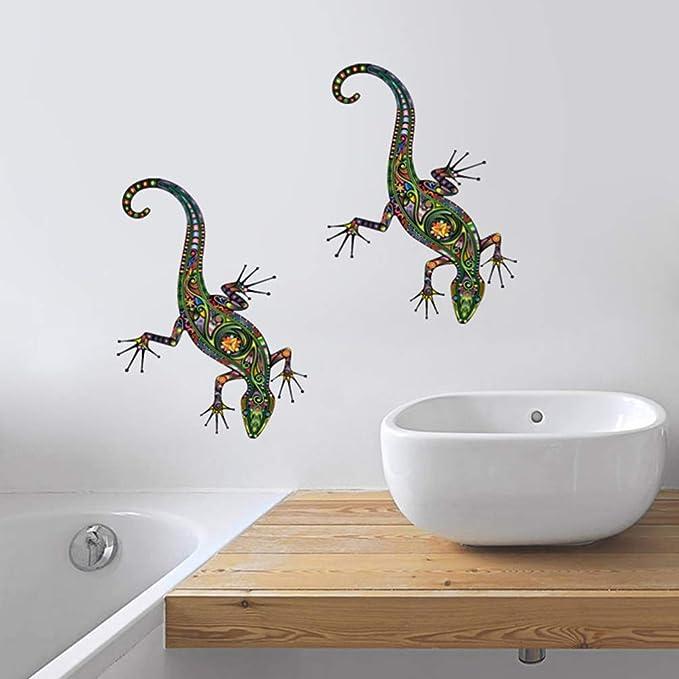 Gecko Lizard Reptile Animals Wall Sticker WS-18496