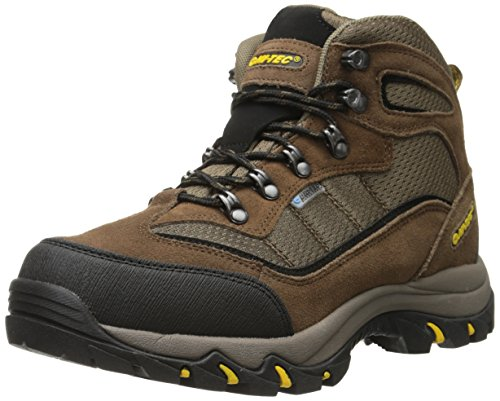 Hi-Tec Men's Skamania Mid Waterproof Hiking Boot, Brown/Gold,9.5 M -
