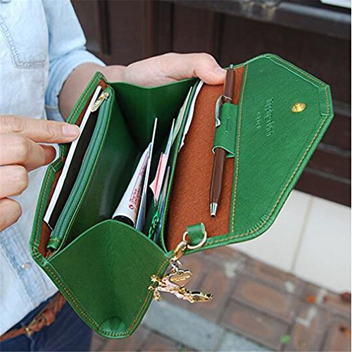 Wallets Holder Long Case Large Purses Female Capacity Phone Feminina Coin Passport Women 06Green Purse dPq6nFd