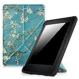 'Fintie Origami Funda para Kindle Voyage–La más fina y ligera PU Funda de piel para Amazon Kindle Voyage (sólo se ajuste Kindle Voyage 2014), Z- Blossom