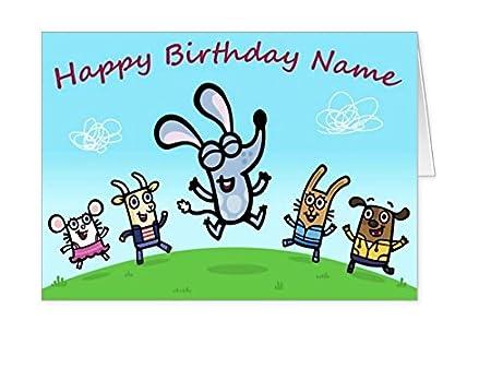 Cbeebies Boj Personalised Birthday Card Amazon Kitchen Home