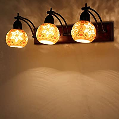 DYBLING Artistic Creative Personalized Balcony Led Modern Minimalist Village Simple Chinese Ceramic Long Vanity Mirror Lamp Led Light Cabinet Mirror Outdoor Indoor Wall Lights Lamp