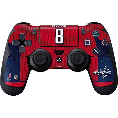 Alexander Player Ovechkin Nhl - Skinit Washington Capitals #8 Alexander Ovechkin PS4 Controller Skin - Officially Licensed NHL Players Gaming Decal - Ultra Thin, Lightweight Vinyl Decal Protection
