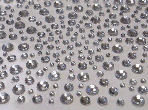 Stick On Rhinestones (CraftbuddyUS 325 Clear Diamante Stick on Rhinestone Gems 4 Craft, Vajazzle, Wedding)