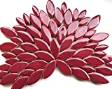 Craft Mosaic tiles - Petal Pack - Glazed Ceramic - Merlot