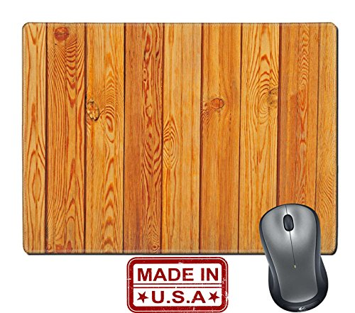"""Liili Natural Rubber Mouse Pad/Mat with Stitched Edges 9.8"""" x 7.9"""" fresh fir planks with knots textured background Photo 4338562"""