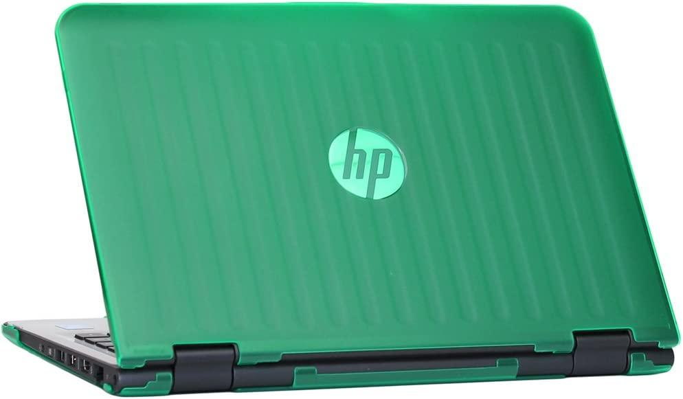 """mCover Hard Shell Case for 11.6"""" HP X360 11-AB000 Series (NOT Fitting HP Stream 11 Dxxx/Rxxx Series, X360 11-p0xxx Series Convertible Laptop) Windows laptops (X360-11AB Green)"""