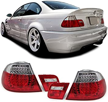Carparts Online 11753 Led Rückleuchten Rot Klar Facelift Optik Auto