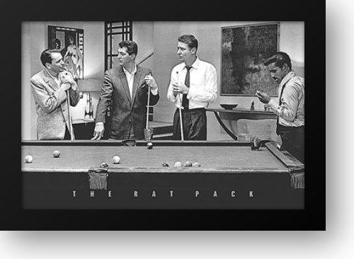 Rat Pack-Shooting Pool 40x28 Framed Art Print (Rat Artwork Pack)