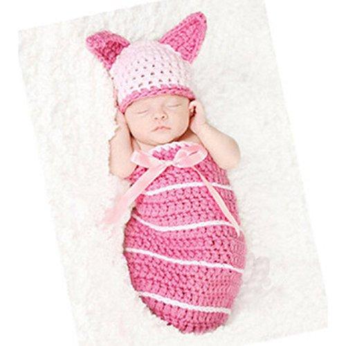 [KAKA(TM) Lovely Newborn Crochet Knitted Baby Costume Baby Photo Photography Prop Clothes - Rabbit Sleeping] (Ipod Costume)