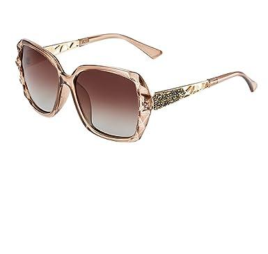 BLDEN Sonnenbrillen Frauen Polarisiert Großer Rahmen, Anti-Reflexion 100% UV 400 Augenschutz Stilvolle Oversized Lässige Brille