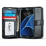 Galaxy S7 Case, J&D [Wallet Stand] Samsung Galaxy S7 Wallet Case Heavy Duty Protective Shock Resistant Wallet Case for Samsung Galaxy S7 (Black/Red)