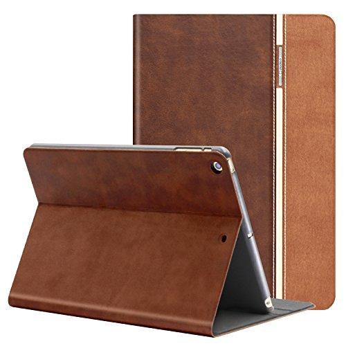 (iPad Mini Case, AUAUA iPad Mini 1 2 3 PU Leather Case With Smart Cover Auto Sleep/Wake +Screen Protection Film For Apple iPad Mini 1/ Mini 2/ Mini 3 , 7.9 inch Apple Tablet(Mini 123, Chocolate color))
