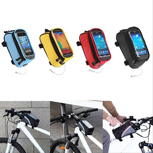 WINOMO Wasserdichte Fahrrad Rahmentasche mit Fenster Multifunktions Handys Tasche bis zu 5,5 Zoll