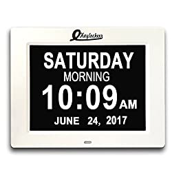 Digital Wall Clock- Alarm clock- Kitchen LED Clock- Extra Large Electronic Calendar Day Clock with Battery Backup- Large Numbers