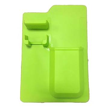 BESTOMZ Silicone Toiletry Organizer Cepillo de Dientes Pasta de Dientes Razor Silicone Holder Bathroom Storage Organizador Holder (Verde, sin Caja de ...