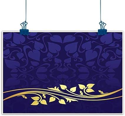 Peinture Murale Phosphorescente Avec Motif Floral Romantique