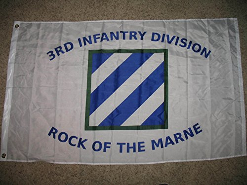 Us Army 3D 3Rd Infantry Division Rock Of The Marne 3X5 3Ft X