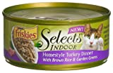 Friskies Selects Indoor Cat Food, Homestyle Turkey Dinner with Brown Rice and Garden Greens, 5.5-Ounce Cans (Pack of 24), My Pet Supplies