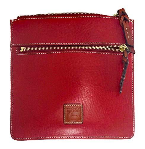 Dooney and Bourke Double Zip Crossbody Bag Red Leather