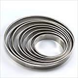 Fityle Stainless Steel Metal Ring Baking Molds