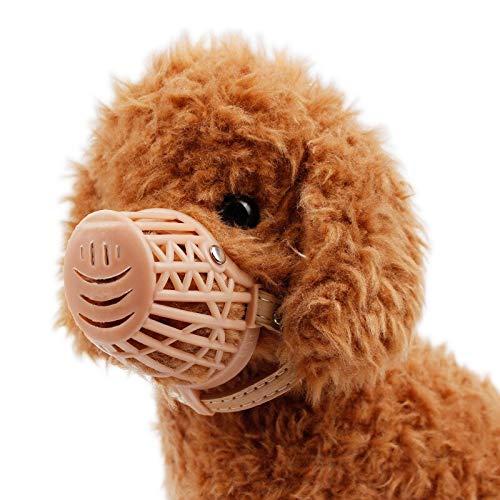 Bozal de plástico resistente para perro - 7 tamaños, color marrón ...