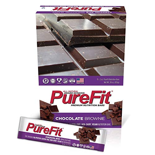 PureFit Gluten-Free Nutrition Bars with 18 grams Protein: Chocolate Brownie, 2 oz Bars, Pack of 15