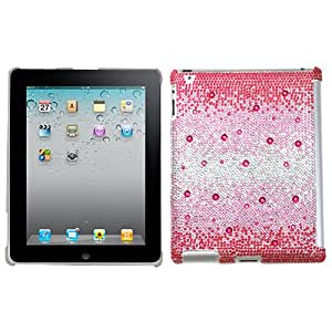 MYBAT Pink Snowstorm Gem Gradients Diamante SmartSlim Back Protector Cover ( with Package ) for APPLE The new iPad APPLE iPad 2