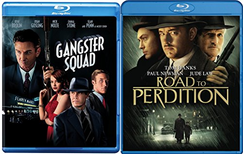 Road To Perdition & Gangster Squad [Blu-ray] 2 Pack Mob Crime Movie Set