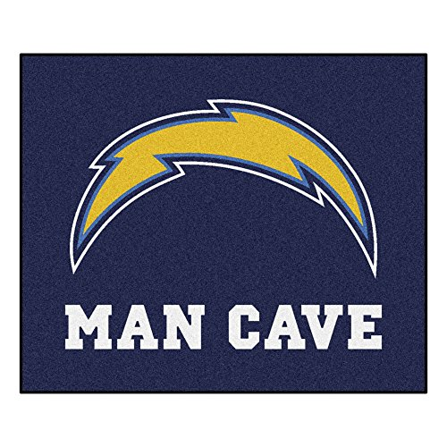 Fanmats 14363 NFL San Diego Chargers Nylon Universal Man Cave Tailgater Rug