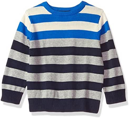 The Children's Place Boys' Colorblocked Striped Pullover Sweater