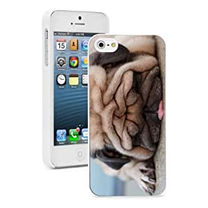 For Apple iPhone 4 4S Hard Case Cover Sleeping Pug -02