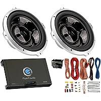 2) VM AUDIO SRW10 10 Car Audio Subwoofers Subs+Planet Audio 2 Channel Amp+Kit