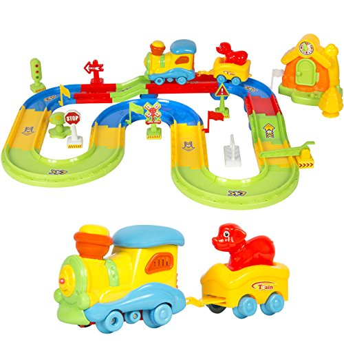 Best Choice Products Kids Toy Deluxe Electric Train Set (Plastic Train Set)