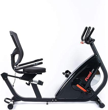 Fuel Fitness LE100 - Bicicleta estática con respaldo para el hogar ...