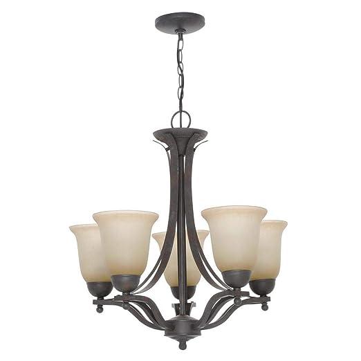 Amazon.com: 5 lámparas de araña de hierro rústico con ...