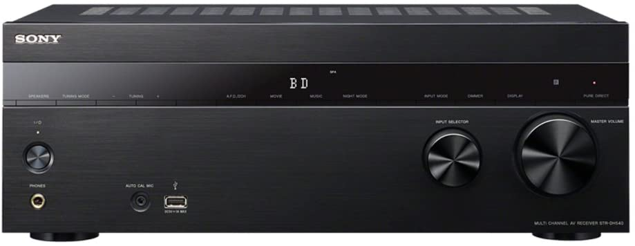 Sony STR-DH540 5.2 Channel 4K AV Receiver 725 Watt Receiver (Black) (Discontinued by Manufacturer)