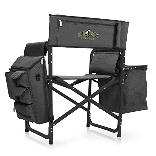 NCAA Cal Poly Digital Print Fusion Chair, Dark Grey/Black, One Size by PICNIC TIME