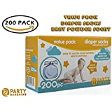 Party Bargains Disposable Diaper Bags with Baby Powder...