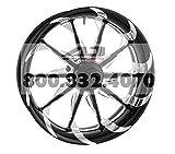 Xtreme Machine Launch Single Disc Front Wheel - 18x3.5 - Black Cut Xquisite , Color: Black, Position: Front, Rim Size: 18 1245-7806R-XLA-BMP