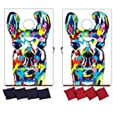VictoryStore Cornhole Games - Llama Cornhole Game - Llama Bag Toss Game - 8 Bags Included - Wooden Boards