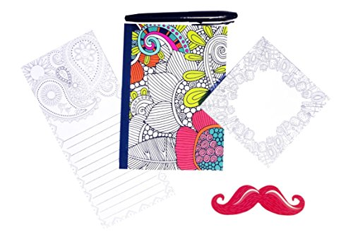 5-piece-top-adult-coloring-book-idea-journals-to-write-in-memo-pad-sticky-note-pad-mustache-nail-fil