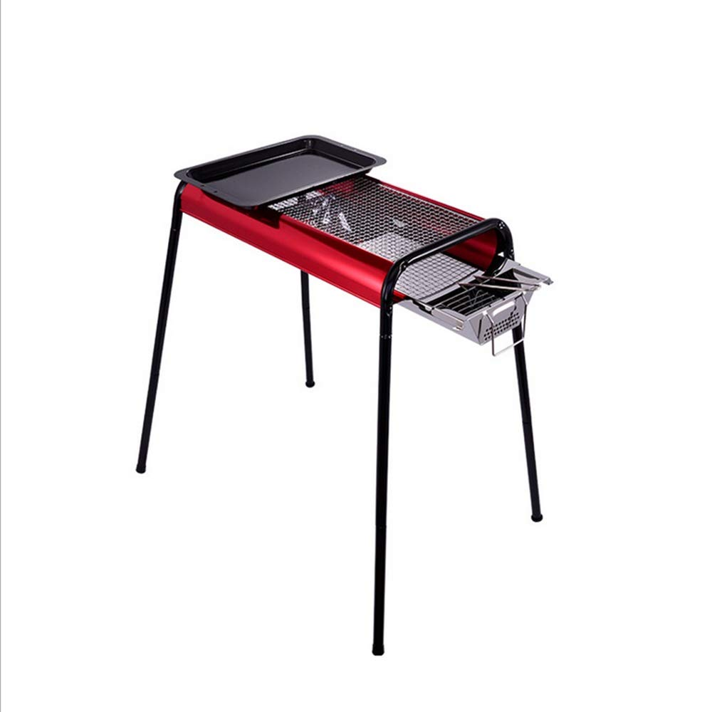 Liuxina Barbecue Barbecue Stainless Steel Folding Portable Grill Suitable for Outdoor Camping Or Outdoor Barbecue for Outdoor Cooking Camping Hiking Picnic by Liuxina